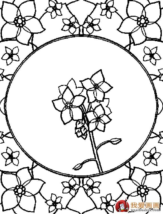 简笔画花卉大全,各种植物花儿简笔画图片26副(下)(3)_简笔画_儿童画