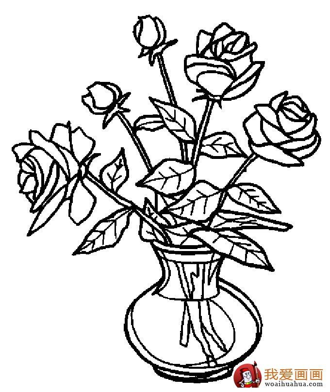 简笔画花卉大全,各种植物花儿简笔画图片26副(下)(4)