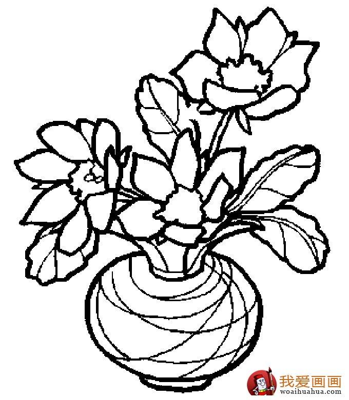 简笔画花卉大全,各种植物花儿简笔画图片26副 下 6