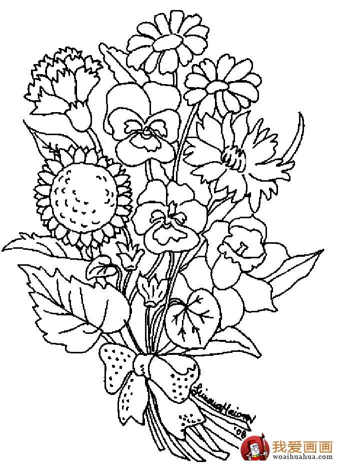 简笔画花卉大全,各种植物花儿简笔画图片26副 下 12
