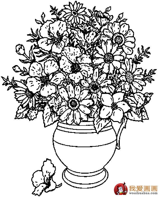简笔画花卉大全,各种植物花儿简笔画图片26副(下)(13)