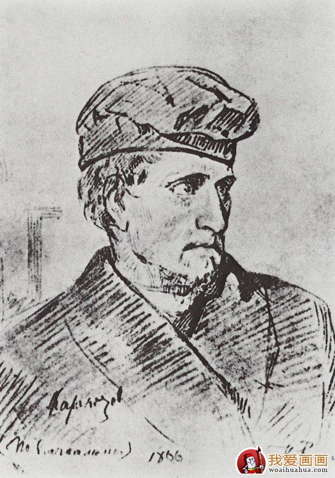 列宾 素描作品,列宾 人物速写作品高清图片欣赏
