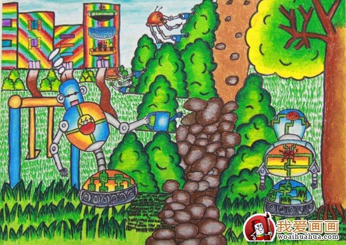 获奖作品 节能环保,低碳生活科幻画 19