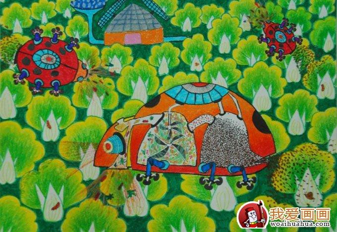 少年儿童节能环保低碳生活科幻画获奖作品(14)图片