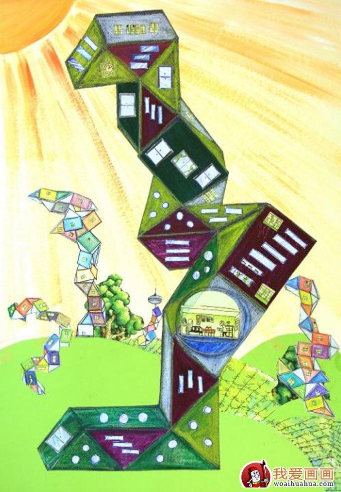 能环保低碳生活科幻画获奖作品 15
