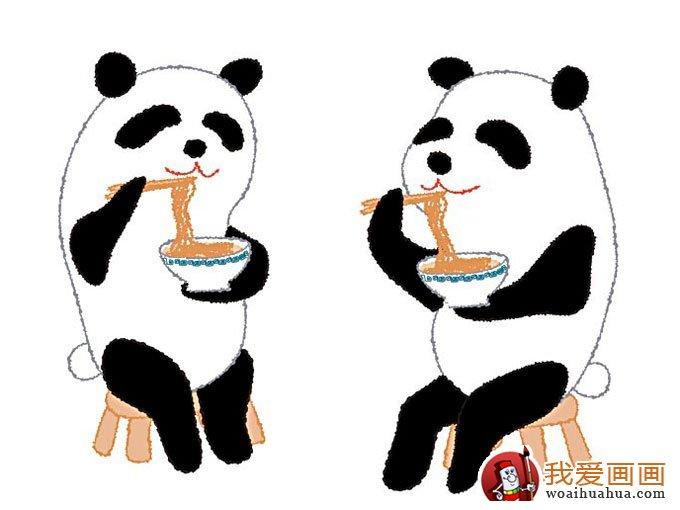 5副熊猫儿童卡通画欣赏,完美的儿童画熊猫图片(5)