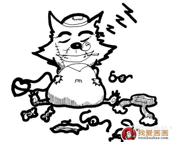 简笔画灰太狼图片愤怒的 灰太狼简笔画 两幅图片