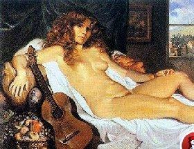 古典人物油画教程,欧洲女性人体画法步骤详解