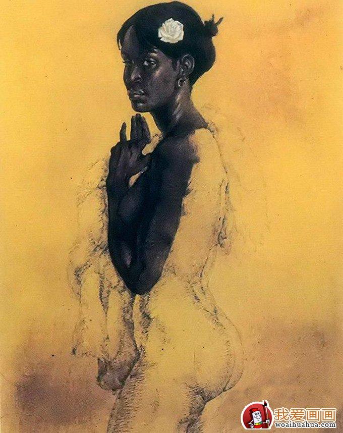 油画人物图文教程:黑人女性人体油画教程(8)