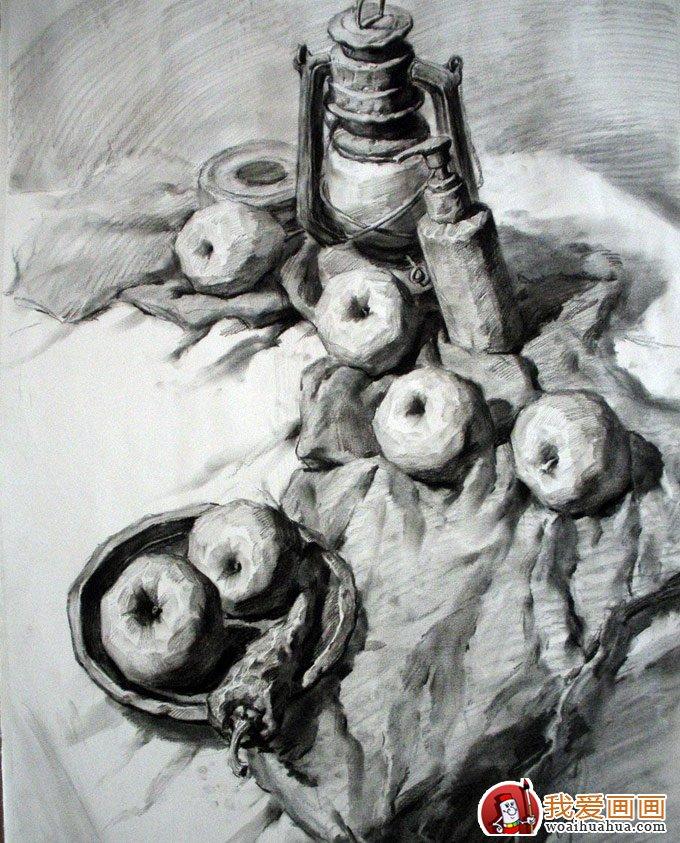 美术高考素描,优秀美术高考静物素描作品展示(3)