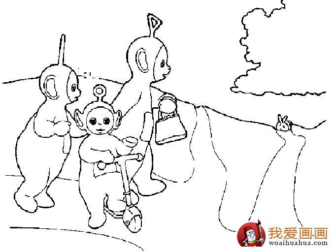 天线宝宝简笔画:卡通画天线宝宝大全(4)-宝宝专用不锈钢碗,卡通