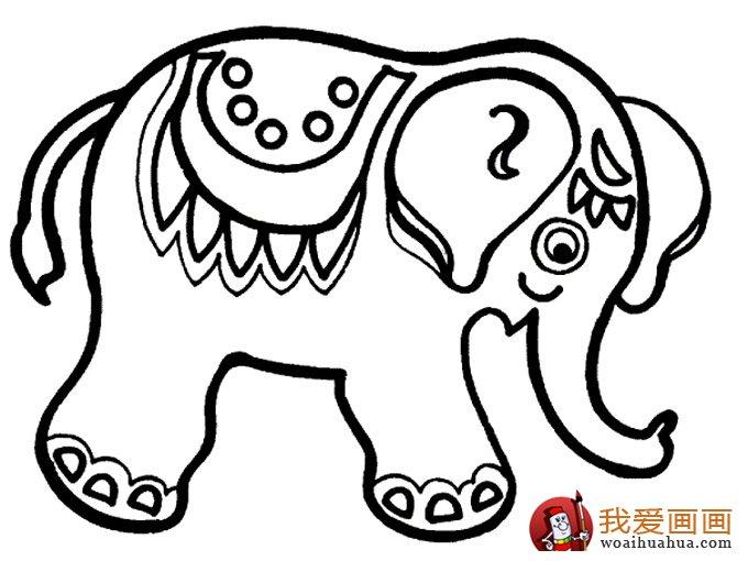 大象简笔画:儿童简笔画大象图片大全