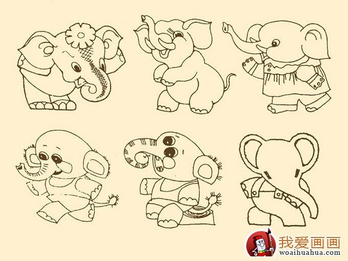 大象简笔画 儿童简笔画大象图片大全 2