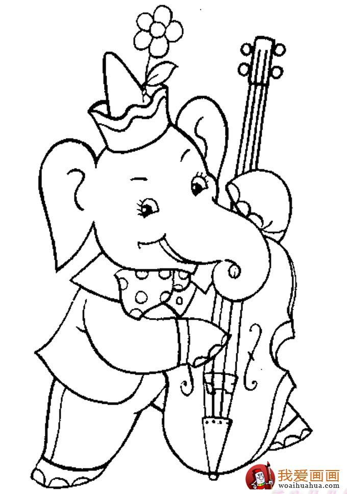 大象简笔画:儿童简笔画大象图片大全(8)_儿童画教程