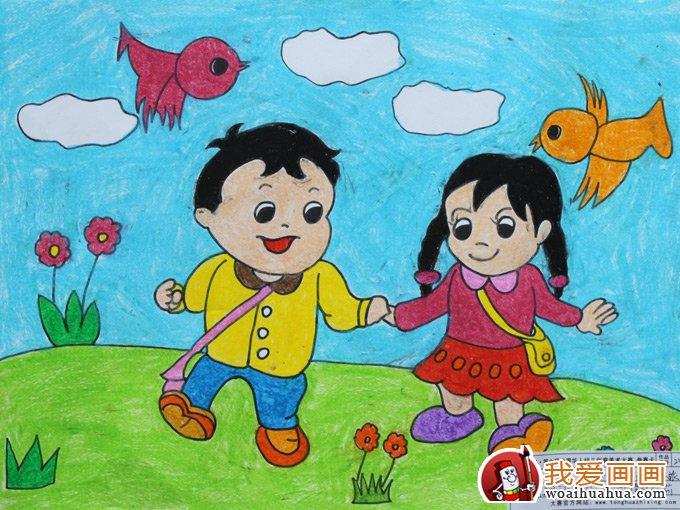 我们在五星红旗下幸福的成长;幼儿园绘画作品:坐着飞船游太空;以及图片