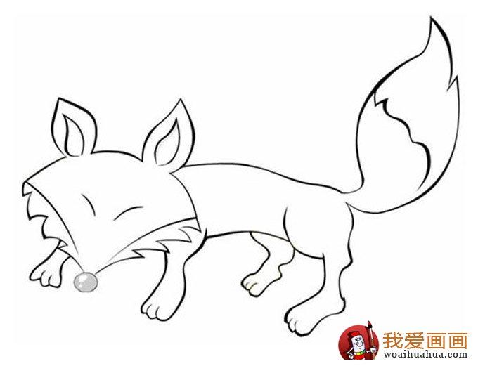 简笔画狐狸大全 可爱的小狐狸简笔画图片13张 2