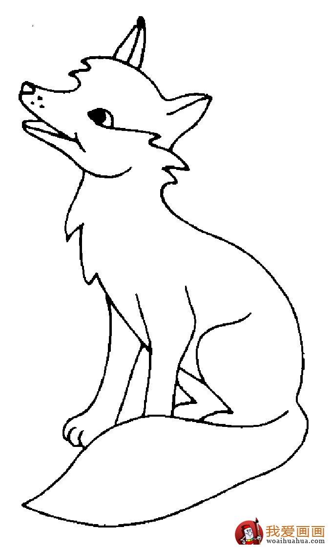 简笔画狐狸大全:可爱的小狐狸简笔画图片13张(3)