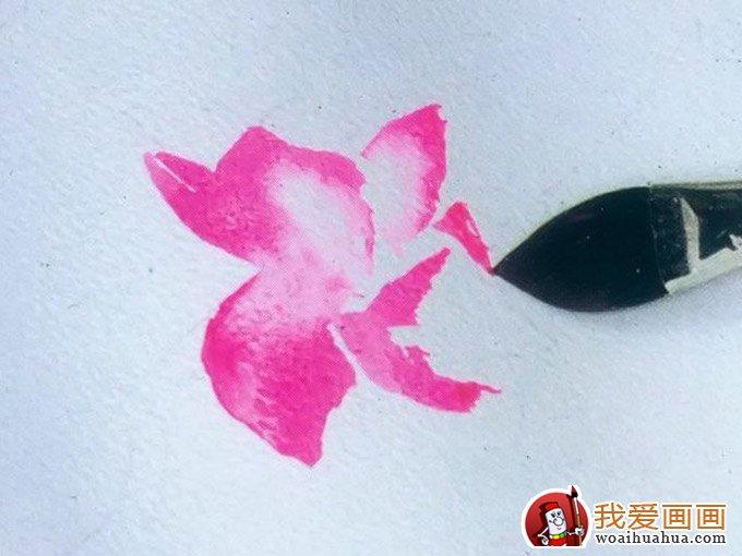 水彩画鲜花教程:花的水彩画绘画图文步骤(8)