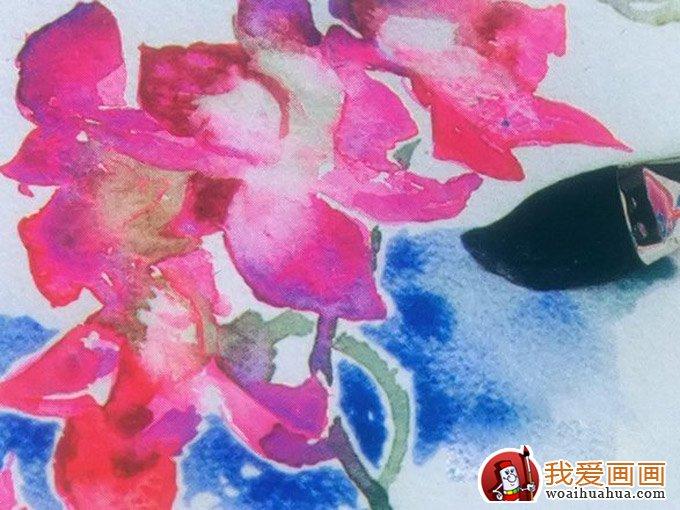 水彩画鲜花教程:花的水彩画绘画图文步骤(17)