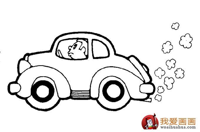 小汽车简笔画,儿童简笔画小汽车大图