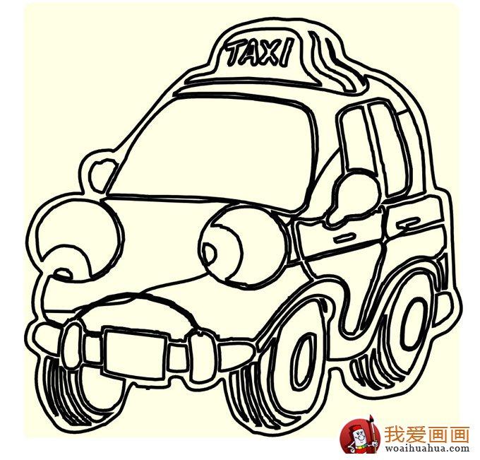 小汽车简笔画,儿童简笔画小汽车大图(2)