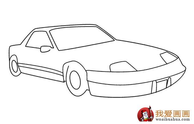 小汽车简笔画,儿童简笔画小汽车大图 3