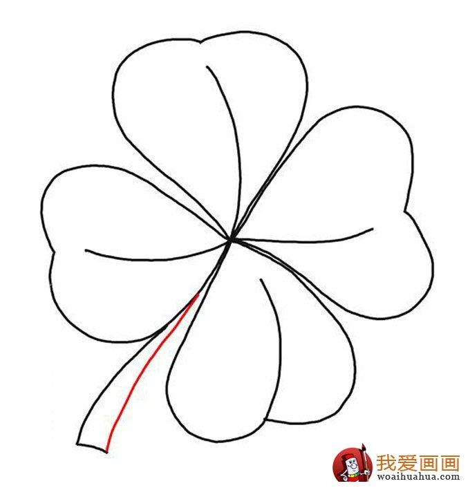 关于树叶的简笔画,各种树叶简笔画图片(4)