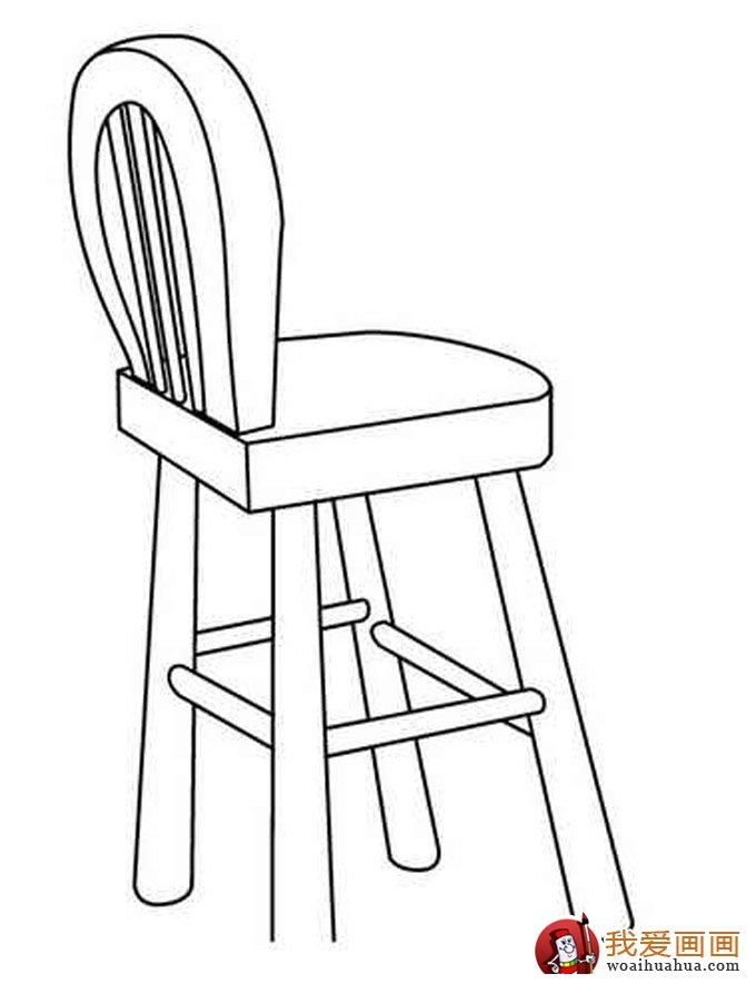 椅子简笔画,儿童简笔画椅子图片大全(2)