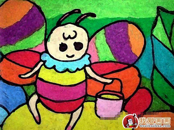 小蜜蜂水彩画油画棒(8)