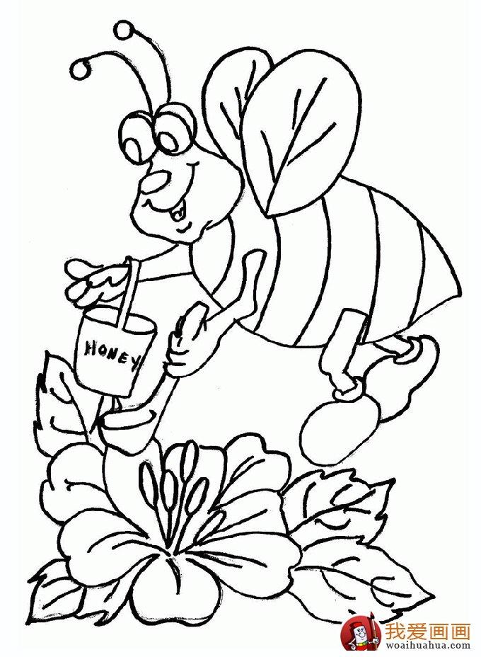 小蜜蜂简笔画,蜜蜂简笔画图片大全