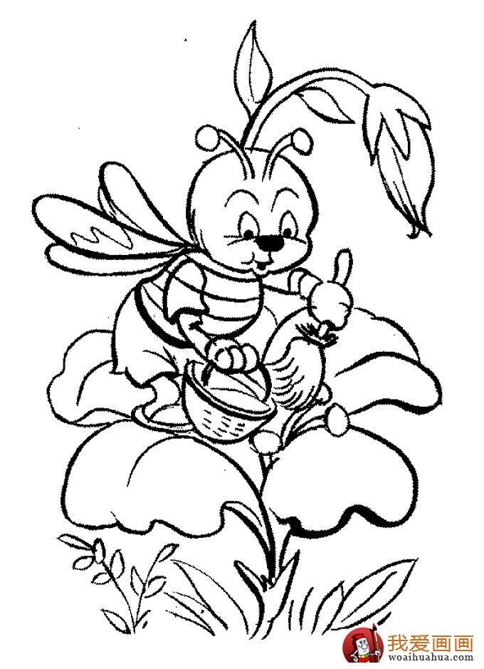 小蜜蜂简笔画,蜜蜂简笔画图片大全(2)