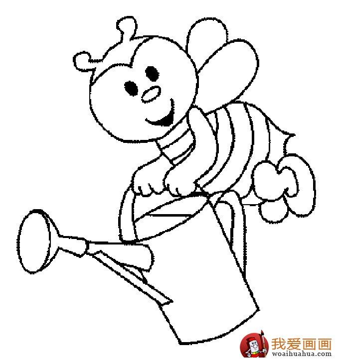 小蜜蜂简笔画,蜜蜂简笔画图片大全 5