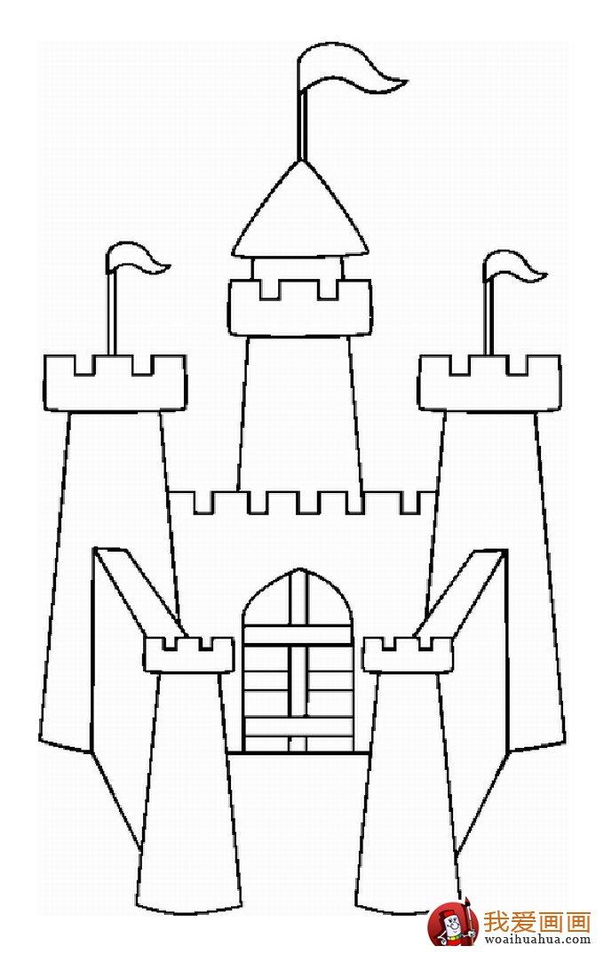 古堡建筑简笔画,简笔画城堡图片大全(4)