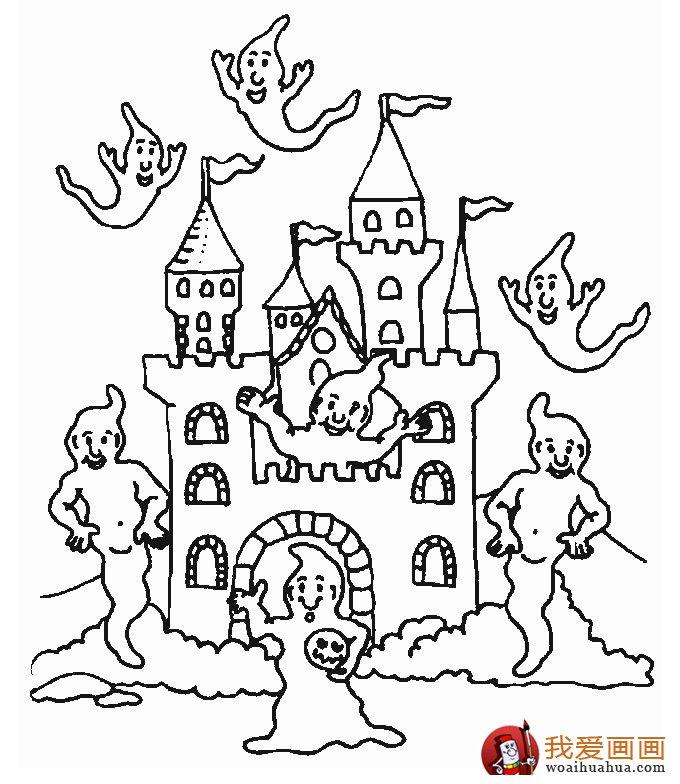 古堡建筑简笔画,简笔画城堡图片大全(5)
