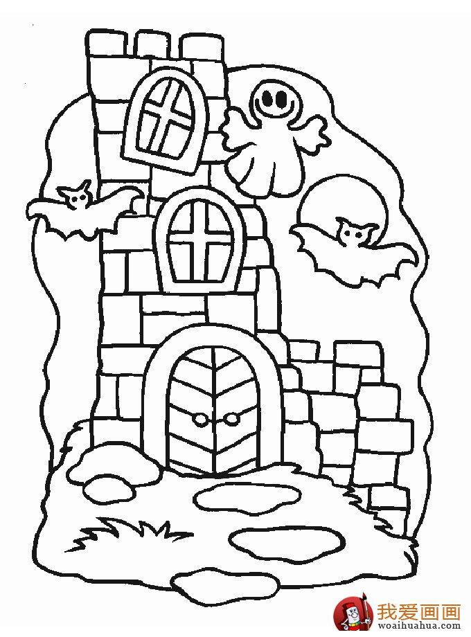 古堡建筑简笔画,简笔画城堡图片大全(8)_儿童画教程