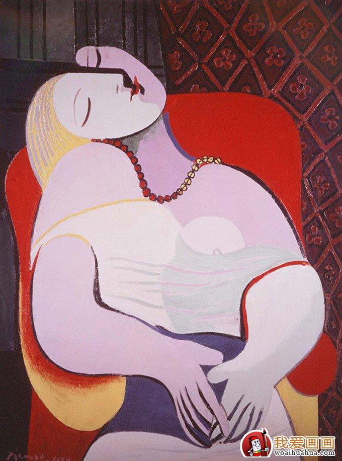 毕加索 梦 毕加索对精神和肉体完美结合追求的作品高清图片
