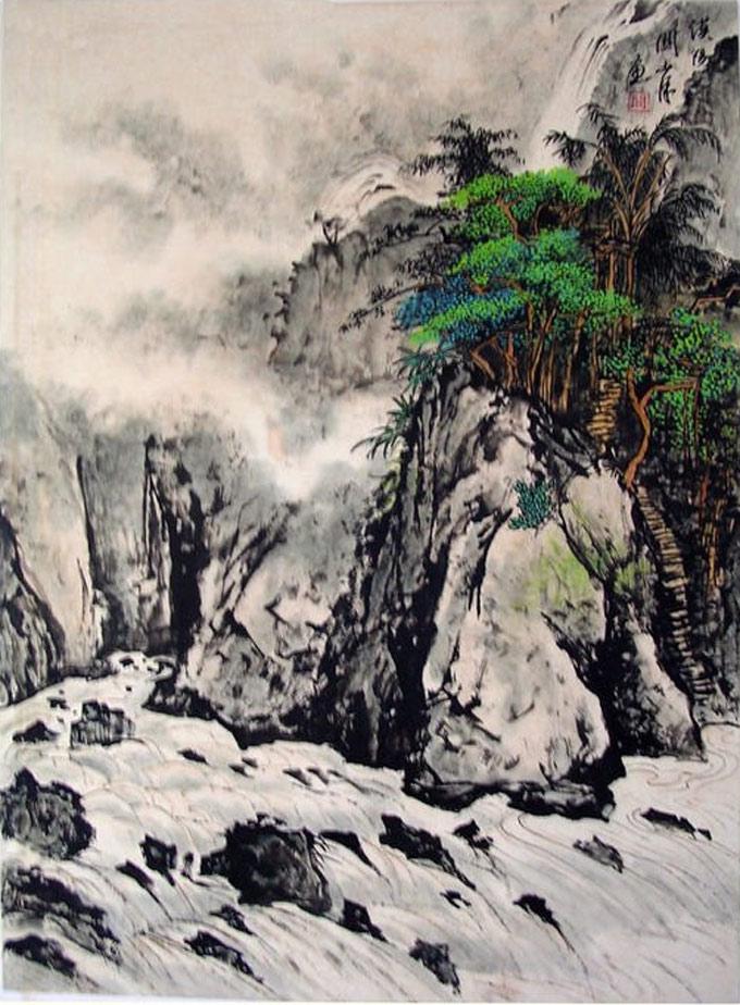 关山月作品:关山月山水画高清图片集(6)-山水
