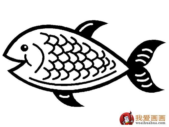 简笔画鱼 各种各样鱼的简笔画图片大全 2