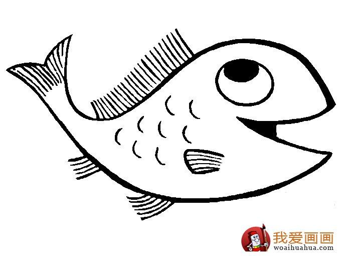 简笔画鱼 各种各样鱼的简笔画图片大全(4)