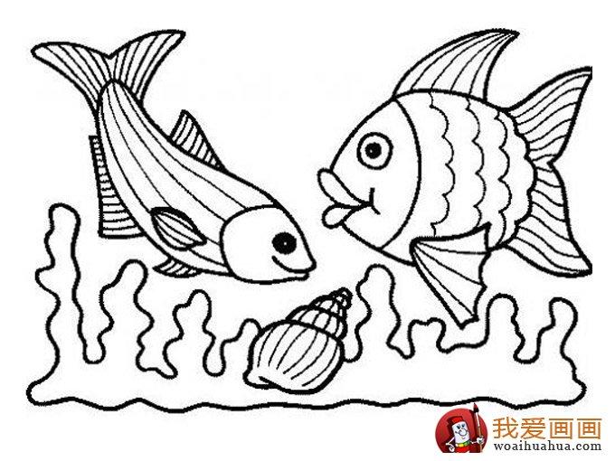 简笔画鱼 各种各样鱼的简笔画图片大全(6)