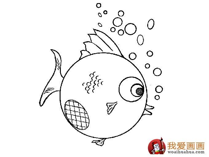 简笔画鱼 各种各样鱼的简笔画图片大全 7