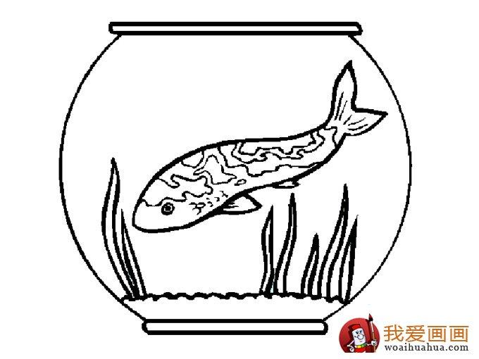 简笔画鱼 各种各样鱼的简笔画图片大全 10