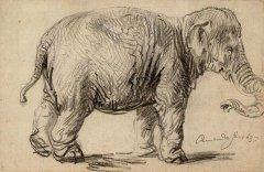 伦勃朗素描 伦勃朗的速写手稿作品