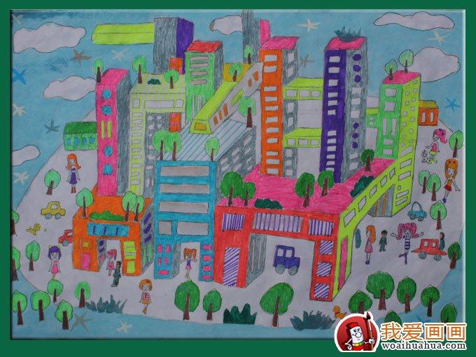 儿童幻想画:11岁小学生科学幻想画优秀品图片
