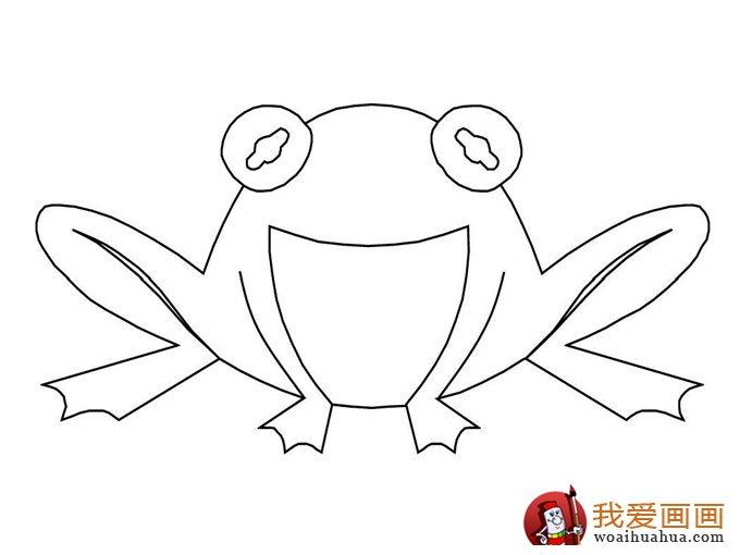 简笔画青蛙,简单的青蛙简笔画图片大全(2)