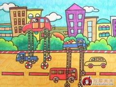 优秀完美的科幻画《美人鱼的梦》8岁 小学生节能环保科幻画获奖作品图片