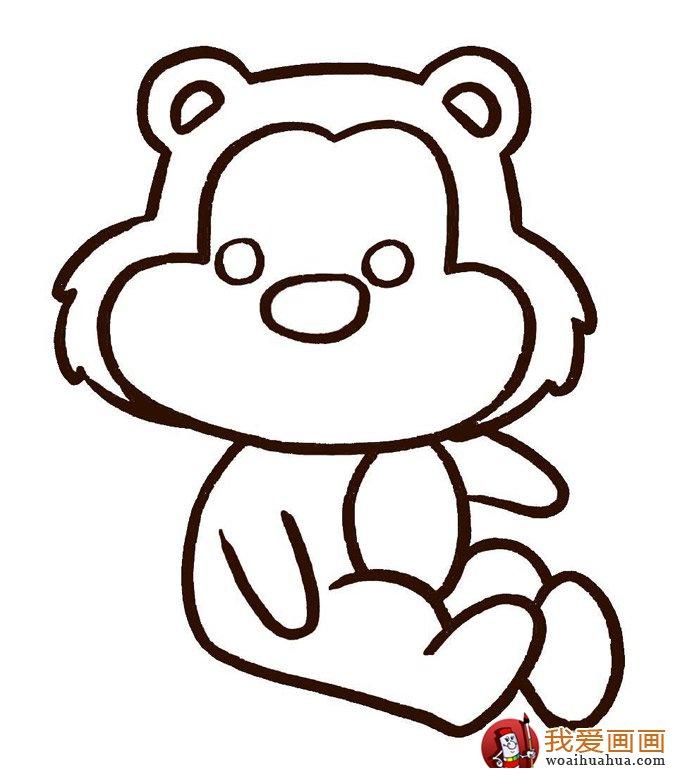 可爱简笔画欣赏:可爱的小动物简笔画(5)
