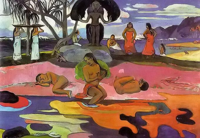 保羅高更著名的人物和風景美術繪畫作品