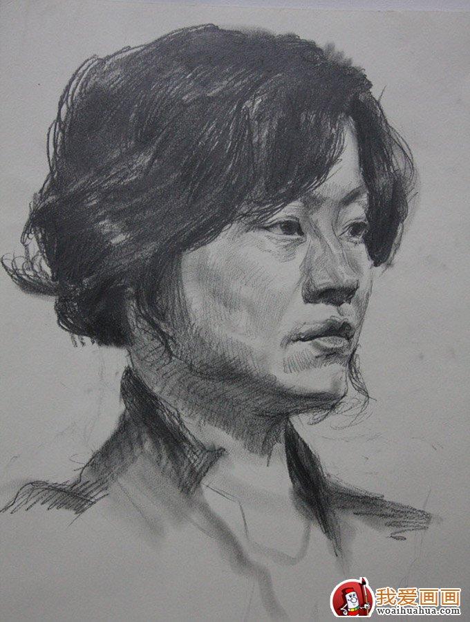 北京朱传奇画室一组人物素描作品欣赏(3)