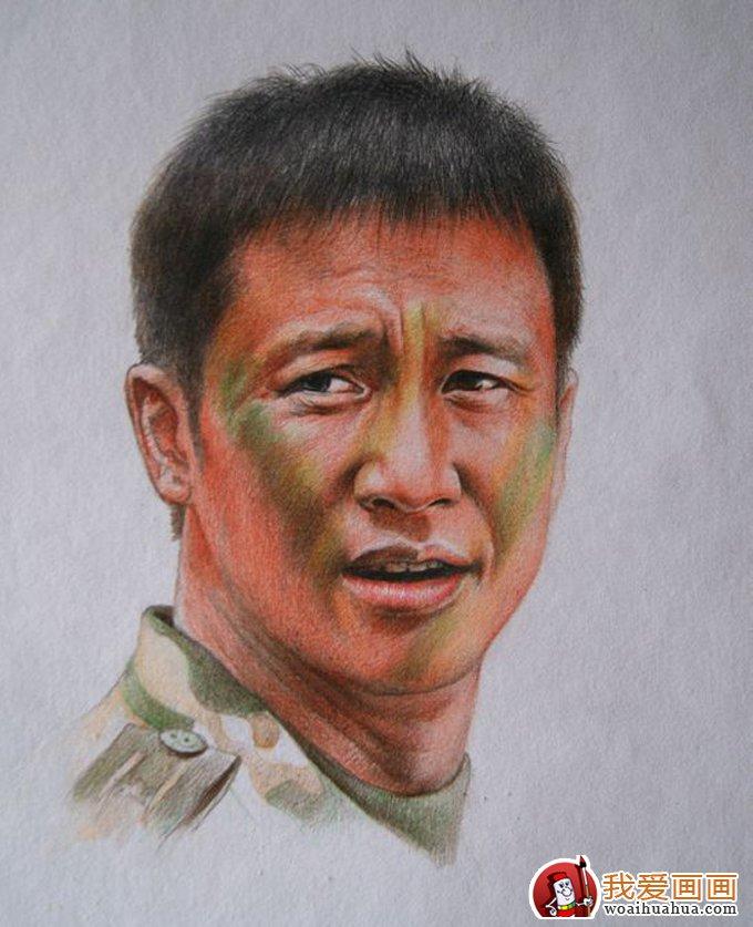彩铅画:逼真的人物彩色铅笔素描大图(4)